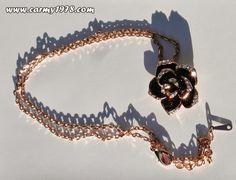 flower necklace @Bellast Jewelry