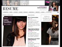"""""""Celine is looking for a fashion job"""", et pour cela, rien de mieux que de présenter son CV à la manière du plus célèbre magazine américain de mode, Vogue, sur un site spécialement dédié."""