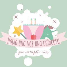 Invitación Princesa / 2 ud. - La Fiesta de Olivia - 1