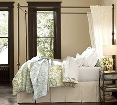 Antonia Canopy Bed #potterybarn Another dream is a Canopy Bed