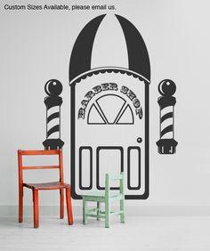 Vinyl Wall Decal Sticker Barber Shop Item #OS_MG107