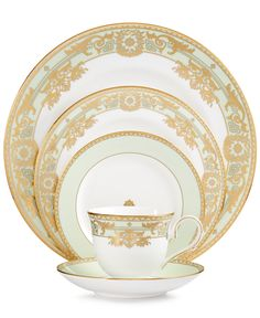 Marchesa by Lenox Rococo Leaf 5-Piece Place Setting - Fine China - Dining & Entertaining - Macy's