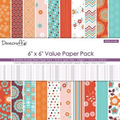 More or Less Paper Pack 30 Sheets 6 Inches
