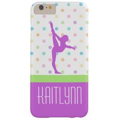 Pastel Polka-Dots Gymnastics in Lavender Barely There iPhone 6 Plus Case