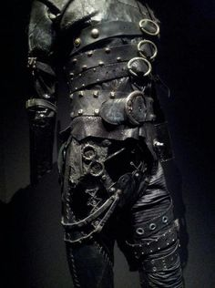 edward scissorhands' costume at the Tim Burton's exhibition - Paris
