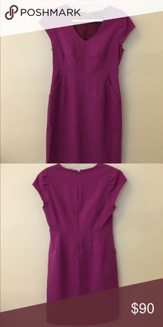 J.Crew Dress Fuschia color, very good condition J. Crew Dresses Midi