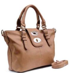 Amazon.com: Passion Faux Leather Satchel Tote Handbag With Buckle Flap in Oak: $42.95