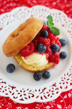 The Comfort of Cooking » Easy No-Bake Berry Donut Shortcakes @Georgia Johnson