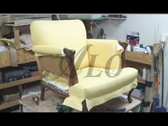 HOW TO REUPHOLSTER THE ARM AND BACK Of A CHAIR - ALOWORLD - YouTube
