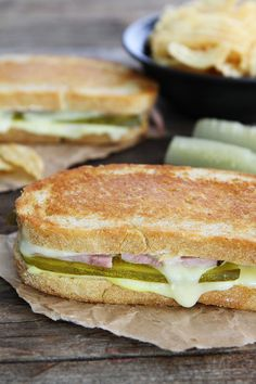 Dill Pickle Wrap Grilled Cheese Recipe on twopeasandtheirpo. If you like the classic dill pickle wraps, you will love this sandwich! Grilled Sandwich, Soup And Sandwich, Sandwich Recipes, Chicken Sandwich, Cheese And Pickle Sandwich, Steak Sandwiches, Vegan Sandwiches, Finger Sandwiches, Paninis
