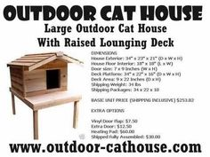 outdoor cat house plans | unfinished insulated cat house with