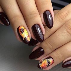 Do you like such a manicure? Rate from 1 to . - the best design ideas for . Fall Acrylic Nails, Metallic Nails, Best Nail Art Designs, Beautiful Nail Designs, Bling Nails, Swag Nails, New Year's Nails, Gel Nails, Halloween Toe Nails