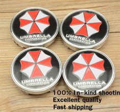 Find More Emblems Information about Free shipping 4pcs 60mm Newest UMBRELLA CORPORATION Resident Evil logo Emblem Badge Sticker Wheel Center Hub Cap Free shipping,High Quality Emblems from car emblem wheel hub cap on Aliexpress.com