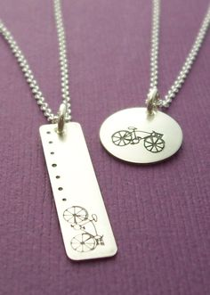 Adorable #bicycle necklace