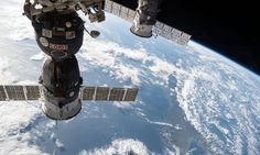 ISS Progress 47 docked at the International Space Station.