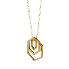 Look what I found at UncommonGoods: Nesting Hexagon Necklace for $96.00