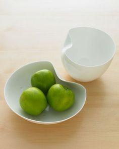 Martha Stewart Wedding Registry Ideas. White Sculptural Bowls  http://www.bodosperlein.com/shop/?page_id=4&shopp_category=26
