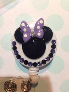 Minnie Mouse ID badge holder  by washiwonderland on Etsy, $9.50