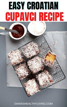 Lamingtons Recipe, Tiramisu Recipe, Easy Bread Recipes, Baking Recipes, Easy Desserts, Delicious Desserts, Fig Tart, Cake Dip, Low Carb Peanut Butter