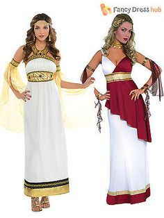 Ladies Greek Toga Roman Grecian Goddess Fancy Dress Womens Costume Plus Size