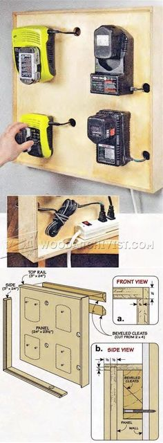 Cordless Tool Charging Station Plans - Workshop Solutions Projects, Tips and Tricks | WoodArchivist.com