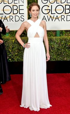 White gowns are all the rage on the red carpet but our top pick was this sexy Micheal Kors look on Emily Blunt. Perfection!