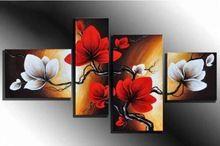 DIY 5D diamant borduurwerk bloemen multi collages kruissteek diamant schilderij voor home decor huwelijksgeschenken 4 stks handwerken(China (Mainland))