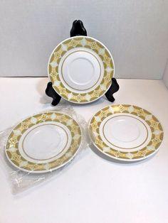 Noritake Progression Sunglow Saucers Set of 3 NOS Discontinued Dinnerware 9042 & Pier One 1 Golden Floral Dinner Plates 10 5/8 Set of 6 Discontinued ...
