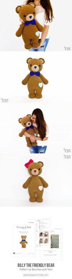 Billy The Friendly Bear Amigurumi Pattern