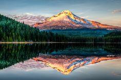 Mount Hood National Forest Trillium Lake by Ian Stotesbury - Photo 132635481 / Mount Hood National Forest, Great Places, Beautiful Places, Trillium Lake, Nature Photos, Mount Rainier, Oregon, Natural Beauty, Cool Pictures
