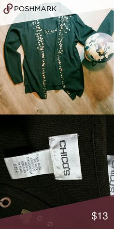 Cardigan and matching tank Super cute womens piece with no damage! Box 10 Chico's Tops