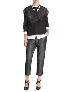 Brunello Cucinelli - Cashmere & Silk Feather Cardigan