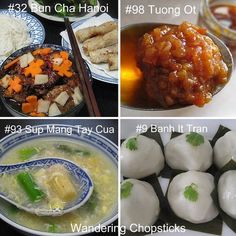 100 Vietnamese foods to try (lists both Vietnamese and English names-so you know how to order at the really authentic restaurants)