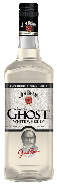 Jim Beam, Jacobs Ghost white whiskey, bottle looks great, I hope it tastes as good Whiskey Brands, Cigars And Whiskey, Scotch Whiskey, Bourbon Whiskey, Tennessee Whiskey, Whiskey Bottle, Tequila, Vodka, Cocktail Drinks