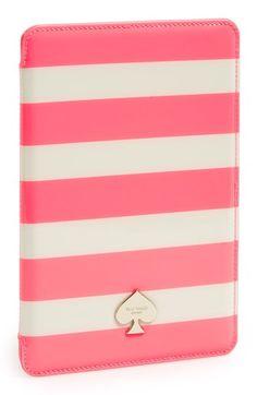 [Kara] kate spade new york 'jane' stripe iPad mini case available at #Nordstrom