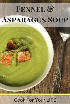 Fennel & Asparagus Soup #cookforyourlife #cfyl #fennel #asparagus #soup #healthycomfort #neutropenic #vegetarian #glutenfree #vegan #dairyfree #cooking #wholefoods #cleaneating #cleaneats #fitfood #homecooking #recipe #cancersurvivor #healthy #foodie #cancerfree #beatcancer #healingfoods #eatwell #chemo #feedyoursoul #healthylifestyle #healthyrecipes #healthyeating #healthymeals #eatup #cancerfreeme #cancerrecipes #fightcancer #nutrition