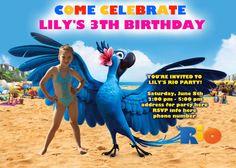 Rio Birthday Party Printable Invitation by FabulousInvitation, $12.99