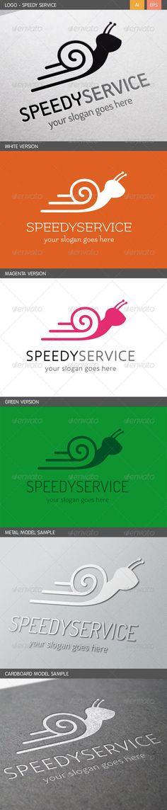 Speedy Service  Logo Design Template Vector #logotype Download it here: http://graphicriver.net/item/speedy-service-logo/5767951?s_rank=1655?ref=nexion