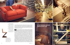 Cassina, where traditional craftsmanship and innovative technology meet to create authentic design.  The German magazine Hauser features the Cassina carpentry workshop
