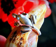 Wonderful Frog Ring Sterling Silver Nature by diggersgoldjewelry, $48.00
