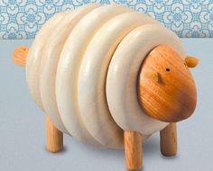Plan Toys Wooden Lacing Sheep | Inhabitots