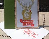 6 Pack Letterpress Christmas in Dixie holiday card. $19.95, via Etsy.
