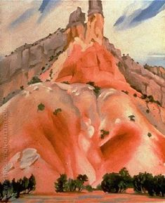 Buy The Cliff Chimneys 1938 oil painting reproductions on canvas. Alfred Stieglitz, New Mexico, Mexico Art, Georgia O'keeffe, Wisconsin, Georgia O Keeffe Paintings, New York Art, Wow Art, Art Institute Of Chicago