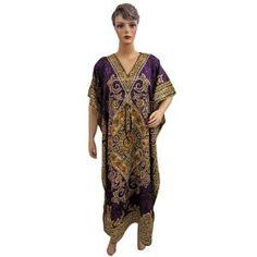 Resort Wear Womens Ethnic Print Satin Crepe Caftan Kaftan Purple Evening Dress (Apparel)  http://www.amazon.com/dp/B007SRUXLO/?tag=classy111-20  B007SRUXLO