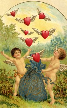 Vintage post card - Valentines day