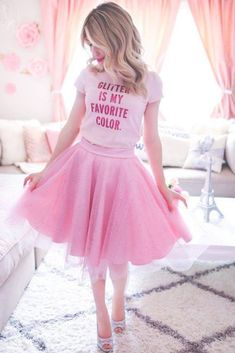 - girly outfits - The 3 Reasons Why I Absolutely Love Tulle Skirts Pink Fashion, Cute Fashion, Fashion Outfits, Style Fashion, Girly Girl Outfits, Cute Outfits, Emo Outfits, College Outfits, Tutu Skirt Women
