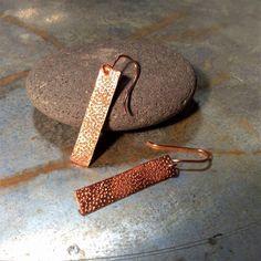 Copper earrings Copper Earrings, Tie Clip, Crochet, Accessories, Boucle D'oreille, Bijoux, Crochet Crop Top, Chrochet, Knitting