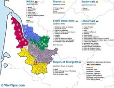 carte des vins Bordeaux