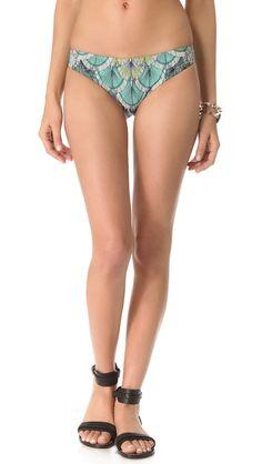 Mara Hoffman Feather Classic Bikini Bottoms