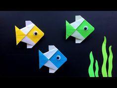 Origami Fisch basteln mit Papier - Origami für Kinder & Anfänger - Einfache DIY Bastelideen - YouTube